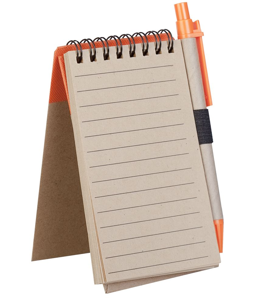 Блокнот на кольцах Eco Note с ручкой