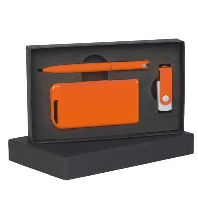 Набор ручка + флеш-карта 8Гб + зарядное устройство 4000 mAh в футляре