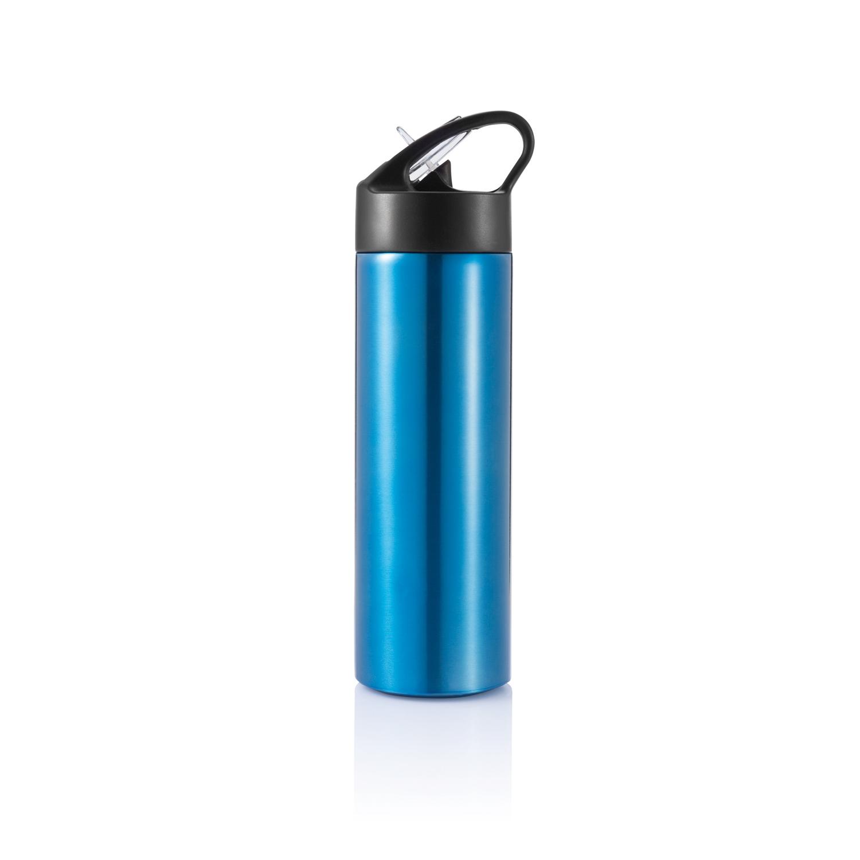 Спортивная бутылка для воды с трубочкой