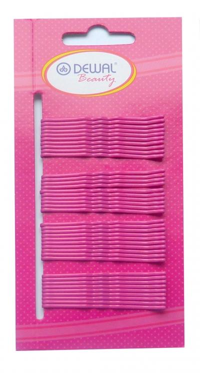 Невидимки Dewal Beauty волна 50 мм (40 шт) розовые