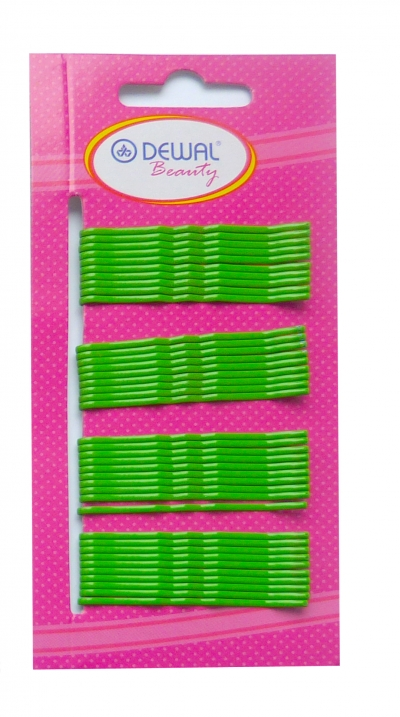 Невидимки Dewal Beauty волна 50 мм (40 шт) зеленые