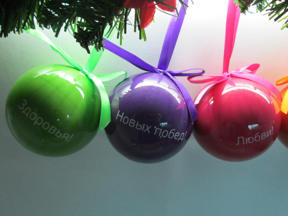 Надписи на новогодних шарах 2